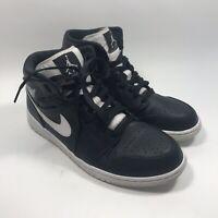 NIKE AIR JORDAN 1 MID Black/White-White (554724-038) Mens Sz 10 Basketball Shoes