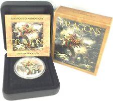 Dragon of Legend 2012 Tuvalu Chinese Dragon 1 oz .999 Fine Silver