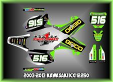 Kawasaki KX125-250 03-13  SEMI CUSTOM GRAPHICS KIT GEICO