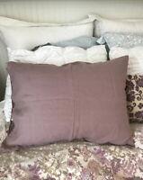 Magic Linen - Gorgeous Mauve Purple Pink LINEN Sham Pillowcase, 2 Available