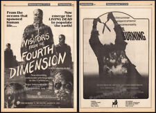 Visitors from the Fourth Dimension_/_The Burning__ Original 1981 Trade AD_poster