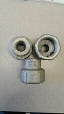 """CROUSE-HINDS REC52 REDUCING COUPLING 11/2"""" to 3/4 LOT OF 3"""