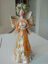 Blue Sky Clayworks Joy Angel Figurine 2006 Heather Goldminc Orange Luster