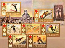 CHAD TSCHAD 1972 502-06 B Block 36-37 B 248-50 C114-17 Winter Olympics Sapporo**