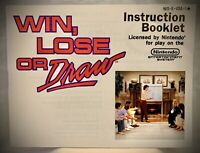 Win, Lose or Draw - Nintendo NES Instruction Manual Booklet ONLY - HI TECH