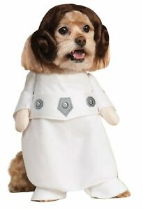 Star Wars Princess Leia Pet Dog Costume S Small Walker Arms Wig Funny LICENSED