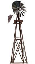 Small Backyard Windmill Bronze Powder Coated Ornamental Home Garden 8 ft.