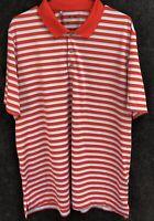 Adidas Mens XL Short Sleeve Multicolor Striped Athletic Polo Golf Shirt