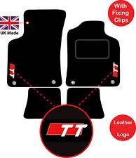 Tailored Audi TT MK1 1999 - 2006 Car Floor Mats  logo of choice & 4 Clips