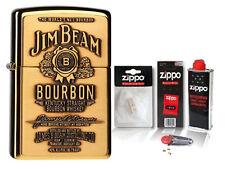 ☆ Zippo ® Feuerzeug Jim Beam Brass Label Emblem & Zubehör L ☆