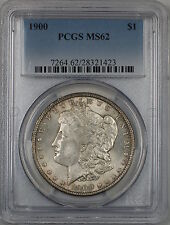 1900 Morgan Silver Dollar $1 Coin PCGS MS-62 Lightly Toned (4D)