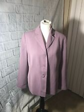 Women's IMAGIO 100% POLYESTER BLAZER  SOFT lavender- PREOWNED SIZE 12