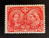 Canadian Stamp, Scott #53 3c Jubilee Issue 1897 VF M/NH. Post Office fresh.