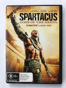 Spartacus - Gods of the Arena UNCUT (2010, Region 4 - 2 DVD set, Dustin Clare)
