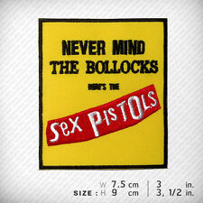 Sex Pistols THE BOLLOCKS Embroidered Patch , Clothes Decorate Bag Vest Jacket