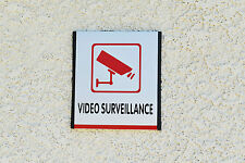 QCQK WT55 Reflective stickers Video Surveillance Aluminum Sign Made in USA