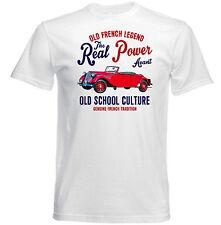 Vintage french voiture CITROEN Traction AVANT cabriolet-Neuf T-shirt en coton