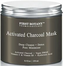 Crema De Carbon Activado - Tratamiento Facial Antiarrugas Con Ácido Hialurónico