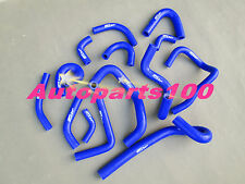 FOR NISSAN SKYLINE R33 R34 GTR RB26DET SILICONE HEATER HOSE KIT BLUE