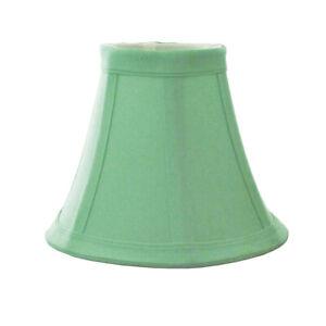 "Sea Foam Green Bell Candelabra Clip On Fabric Lamp Shade - 3"" x 6"" x 5"""