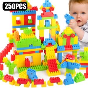 250PCS Children Kids DIY Plastic Creative ToysBricks Building Blocks Educational