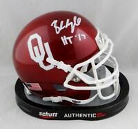 Baker Mayfield Signed Oklahoma Sooners Schutt Mini Helmet w/ HT - Beckett Auth
