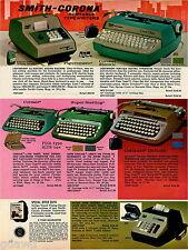 1969 ADVERTISEMENT Typewriter Smith Corona Electric Corsair Galaxie Sterling