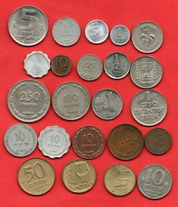 23 OLD COINS FROM ISRAEL.  ALL DIFFERENT.  JOB LOT.