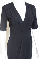 Burberry Prorsum Black Pleated Dress It 42 uk 10
