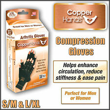 """Therapeutic Compression Copper Hands Arthritis Gloves As Seen on Tv S/M4 1/2"""""""
