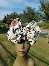 Off White african print headwrap