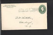 ALBANY,NEW YORK 1897 COVER, ADVT. STANDARD OIL CO.PRINTED ENCLOSURE.