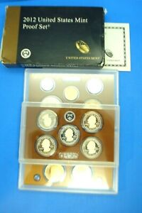 2012 UNITED STATES MINT PROOF SET--BOX AND CERTIFICATION--14 COINS