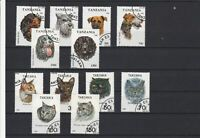 Tanzania Various Canines & Felines - Dogs & Cats Stamps Ref 24941