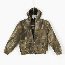 Boys OUTFITTER RIDGE Realtree Hardwood Hunting Jacket Size M 8  Hooded Insulated