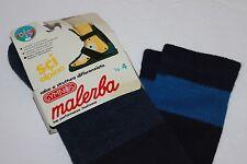 Vintage Malerba Gymnos Ski Socks Men's Sz 10-11 Euro Shoe Sz 40-42 Blue Stripe