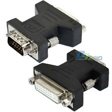 DVI-I 24+5 pin Female to SVGA VGA male plug 15 pin Video Card Converter Adapter