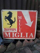 MILLE MIGLIA SIGN 1000 FERRARI MASSARATI CAR GARAGE BUGATTI ITALIAN RACE SPORTS