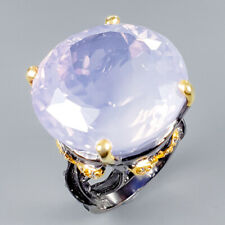 Top AA 35ct+ Natural Lavender Amethyst 925 Sterling Silver Ring Size 8.5/R117177