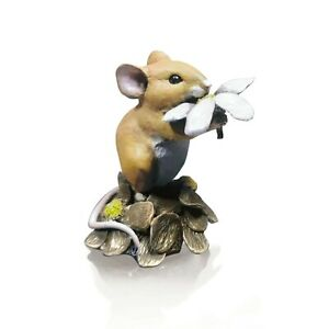 Mouse with Daisy - Hand Painted - Michael Simpson.