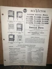 Rca Victor Television Receivers -Service Data- Models 21-S-348K,21-S-369KU
