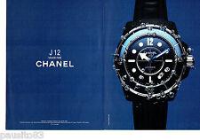 PUBLICITE ADVERTISING 046  2010  Chanel  la montre J 12 Marine  (2 p)