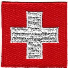 Swiss Flag Insignia Switzerland Ski Patrol Patch Iron on Sew on
