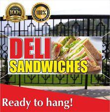 Deli Sandwiches Banner Vinyl Mesh Banner Sign Sub Cornbeef Pastrami Roll