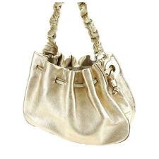 Kate Spade Handbag Gold Beige Woman Authentic Used Y3212