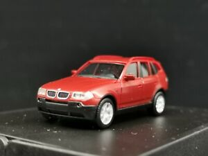 Herpa 1:87 Car Model BMW X3 (E83) 2004 Red 80410300728