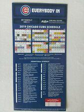Chicago Cubs 2019 Magnet Schedule Girodano's Sponsored
