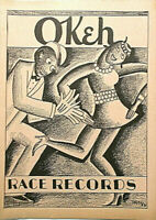 OKeh 78 RPM CATALOGUE c 1927/28 8 pages, photos RACE RECORDS VERY SCARCE NM-