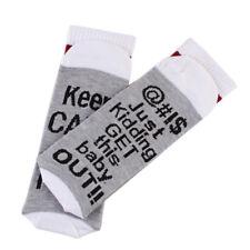 NE_ EG_ Fashion Funny Letters Print Soft Breathable Pregnant Women Casual Sock