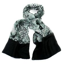New Ladies Stylish Scarf in Green and Black and a very  Soft Touch Polyester